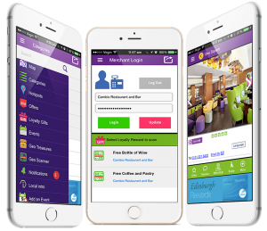 city town app mobile marketing - digital screens